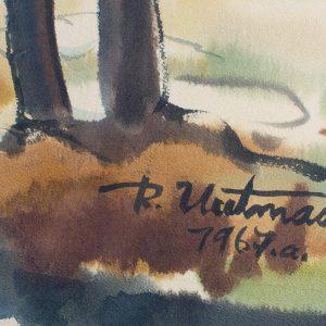 Richard Uutmaa (1905-1977) Kevadmaastik 1967a