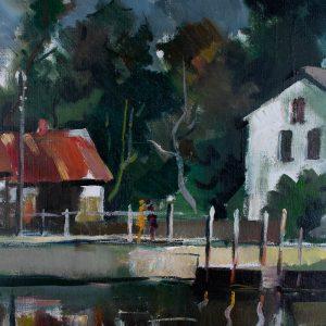 Hehts Gunārs (1954-2005) Maja sillaga õlimaal 1984a Läti