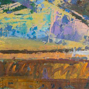 Ermi Littover (1921-2015)Abstraktne maastik,õli,papp 1966a