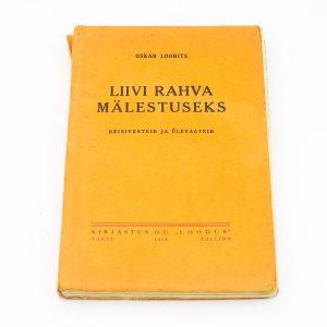 Eesti raamat Oskar Loorits Liivi rahva mälestuseks 1938a