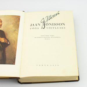 Eesti raamat Jaan Tõnisson 1938 a, pool nahkköide