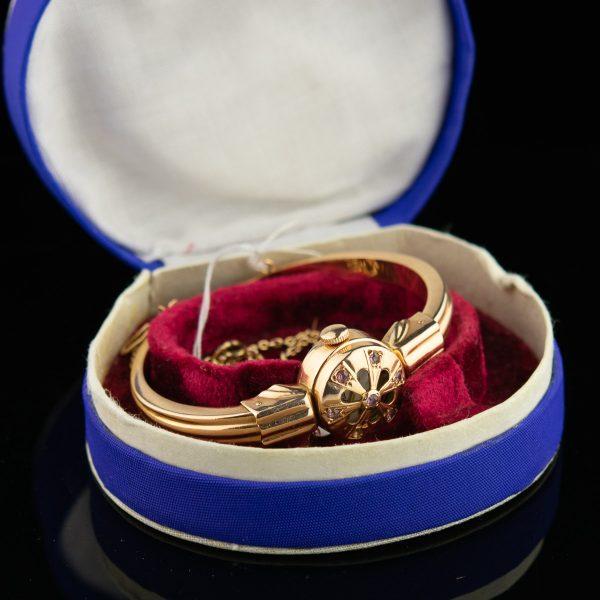 Vene käevõru-käekell, 583 kuld