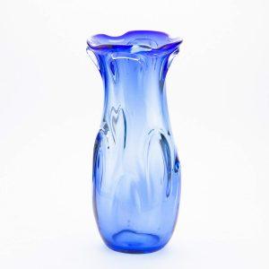Tarbeklaasi vaas IRA Eino Mäelt, sinine