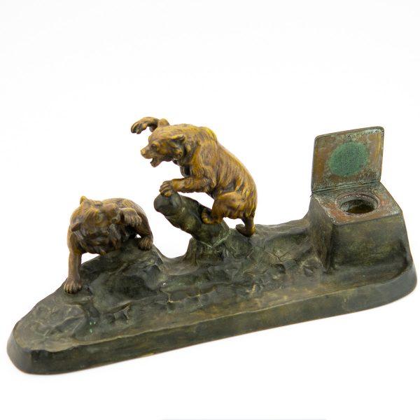 Antiikne kirjutuslaua garnituur Karudega