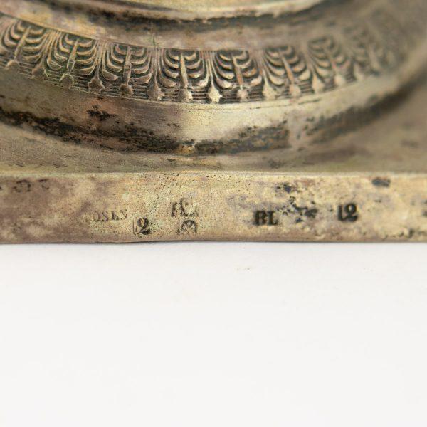 Antiikne Saksa küünlajalg 18 saj lõpp 19 saj algus, hõbe 12 lot