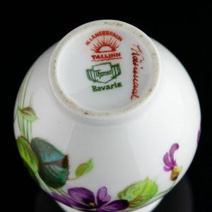 Langebrauni portselanist väike vaas,käsimaal