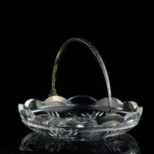 EW aegne kristallist alus hõbe sangaga (875 hõbe)