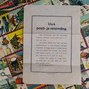 Antiikne lauamäng UUS POSTI- ja RESIMÄNG, MOLH, eestikeelse juhendiga