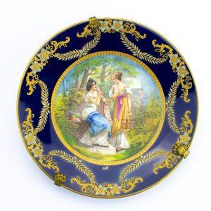Prantsuse portselanist taldrik käsimaalinguga - Sevre, Porcelaines d`art A.Golse