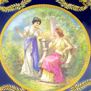 Prantsuse käsimaalinguga taldrik - Sevre, Porcelaines d`art A.Golse