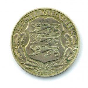 EW 2 kroonine hõbemünt 1932