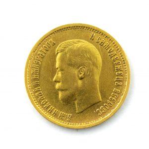 Tsaari-Vene 10 rublane kuldmünt
