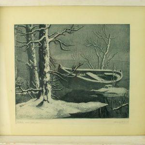 Ott Kangilaski (1911-1975) Oktoobri lumi,pehmelakk 1955a