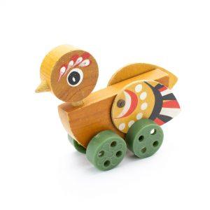 Retro mänguasi-puidus lind
