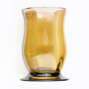 Klaasist väike vaas,pruun klaas