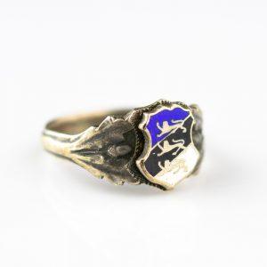 EW sõrmus vapiga, 875 hõbe