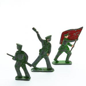 Antiiksed tinast sõdurid 3tk,Venemaa