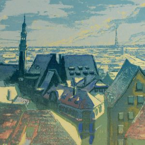 Aleksander Peek (1915-1982) Tallinn 1970a,serigraafia