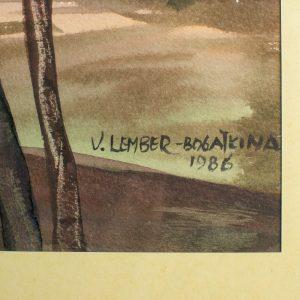 Valli Lember-Bogatkina (1921-2016) Meri akvarell 1986a,Eesti