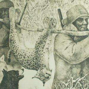 Tõnu Tulev (1955-1999) Metsa läksid sa ja metsa läksin ma...,pehmelakk akvatinta 1981a