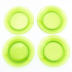 Rohelisest klaasist taldrikud-Neman, 4tk,Venemaa