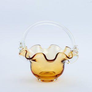 Klaasist korv,kollakas pruun