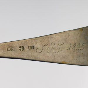Antiikne Tallinna 19saj. alguse 13L hõbelusikas, Dehio Gottfried Erhard 1810-1857