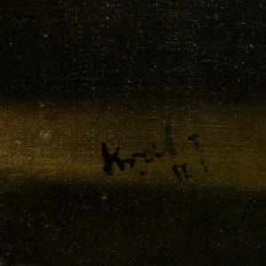 Antiikne õlimaal Naine kardinaga