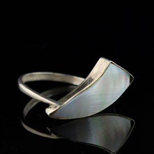 Sõrmus, 875 hõbe pärlmutriga