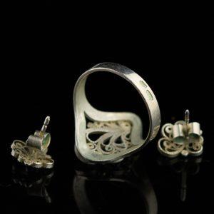 Filigraan kõrvarõngad, 875 hõbe
