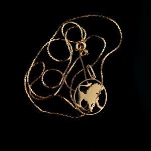 Sodiaagimärk - Lõvi - ripats ketiga, 583 kuld