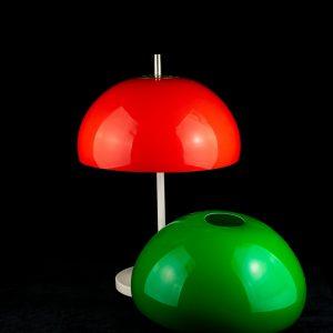 Retro laualamp punase või rohelise kuppliga,Estoplast 1982a