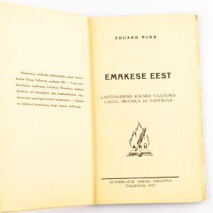 Lasteraamat Eduard Nukk-Emakese eest 1937a