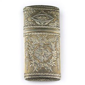Klassitsistlik prillitoos või sigaretikarp, 19saj. Prantsuse hõbe
