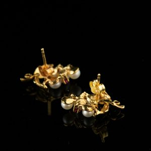 Kõrvarõngad, 585 kuld pärlitega