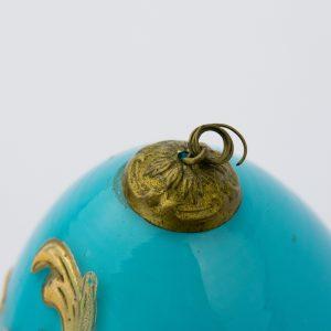 Lihavõtte muna, sinine klaas kullaga