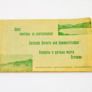 Antiikne raamat Eesti ravitsus-ja suvituskohad,1925a
