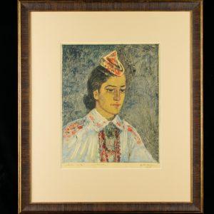 Eduard Einmann (1913-1982) Muhu neiu,monotüüpia paber 1959a