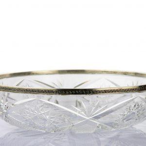 EW hõbeäärega kristallkauss, kingitus ohvitser Boris Sillarile 1930a. soomusautorügemendilt