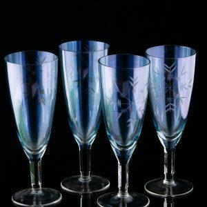Vahuveini klaasist pokaalid 4 tk,Venemaa