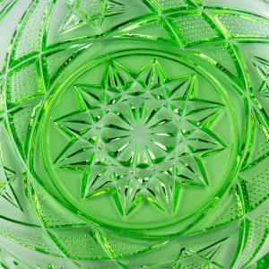 Lorupi pressklaasist roheline taldrik, nr.868 Eesti