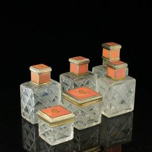 Buduaari komplekt 6 eset, kristall, hõbe emailiga - tooteid saab osta üksikult 160eur tükk