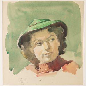 Eduard Einmann (1913-1982) Ita Everi portree, 1953 a.
