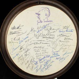 Vasest seinataldrik-R.A.M. Nora Raba 1989a,kingitus allkirjadega Eri Klasile  50a.