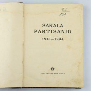 Raamat-Sakala Partisanid 1917-1934,Peeter Kangro kapten 1934a Eesti