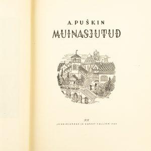 Lasteraamat A.Puškin Muinasjutud 1949a