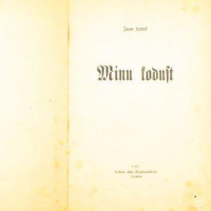 Lasteraamat Jaan Lattik-Minu kodust 1921a