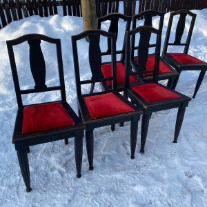 Antiikne pikendatav söögilaud ja 6 tooli,Juugend