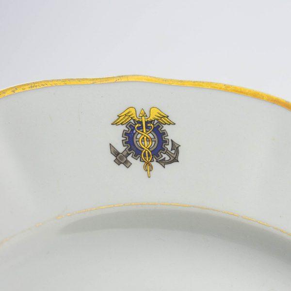 Portselanist taldrik,  ARABIA,  Kaubandus - Tööstuskoja vapiga