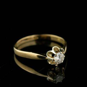Kuldsõrmus suurus 20 - 0.35ct briljandiga, kuld 750 - sertifikaat